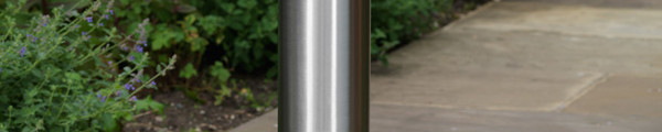 Slant-Top Stainless Steel Bollard
