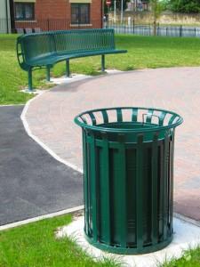 Litter Bin and Seat